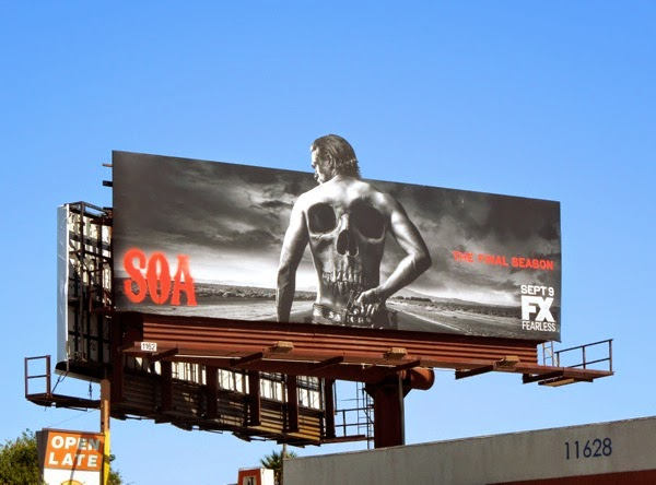 Sons of Anarchy final season special extension billboard