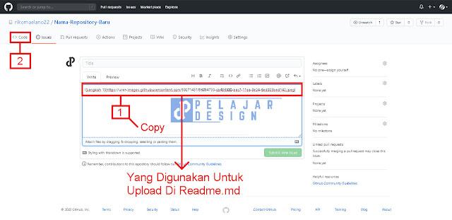 Cara Upload Gambar Di Readme.md Pada Github ( 100% Berhasil )