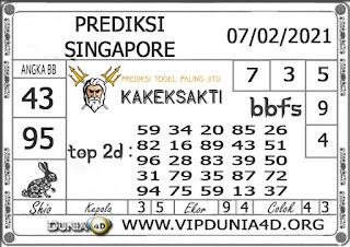 Prediksi Togel SINGAPORE DUNIA4D 07 FEBRUARI 2021