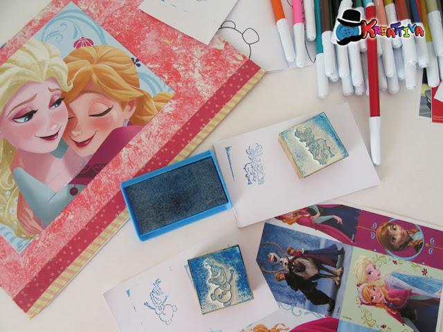 quaderno feste con timbri e colori multiprint