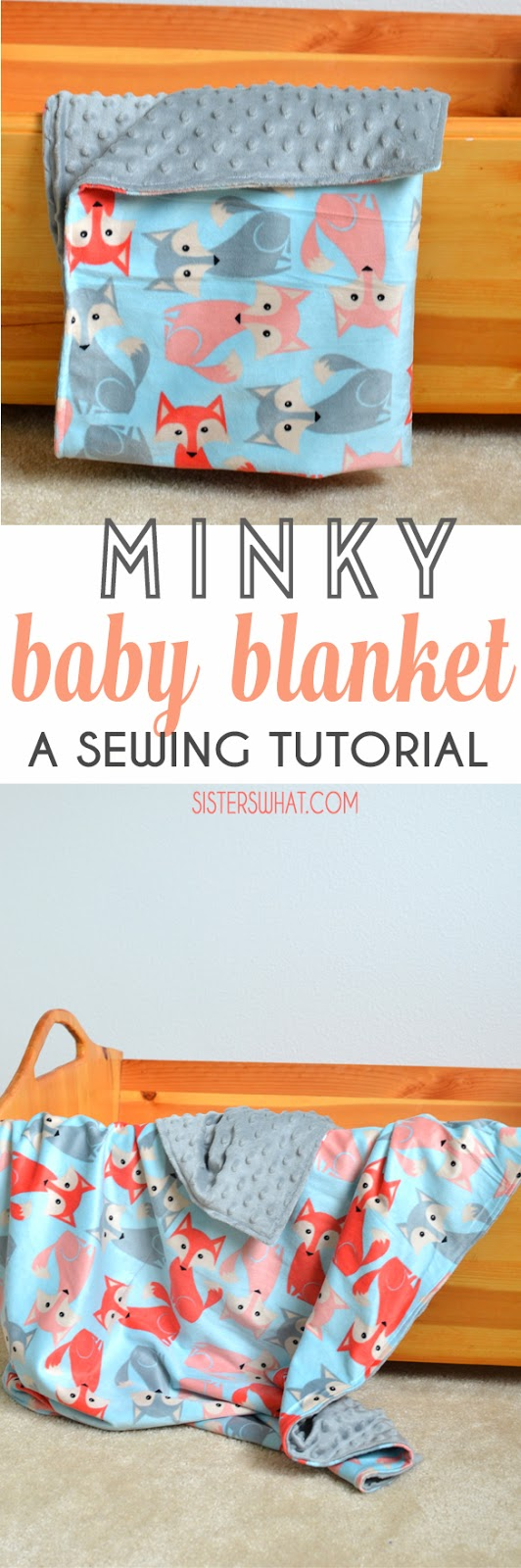 easy baby blanket tutorial for a minky baby blanket and flannel baby blanket perfect baby shower gift