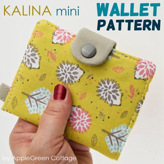 kids wallet sewing pattern