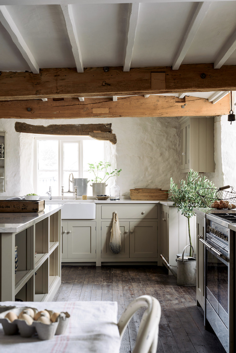 A Charming Shaker-style Kitchen in a 1000-year-old Mill
