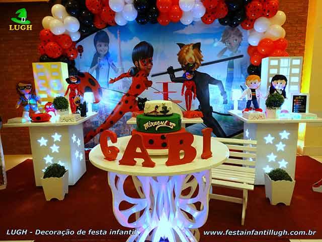 Decoração de aniversário tema Ladybug - Cat Noir - Miraculous - Festa infantil