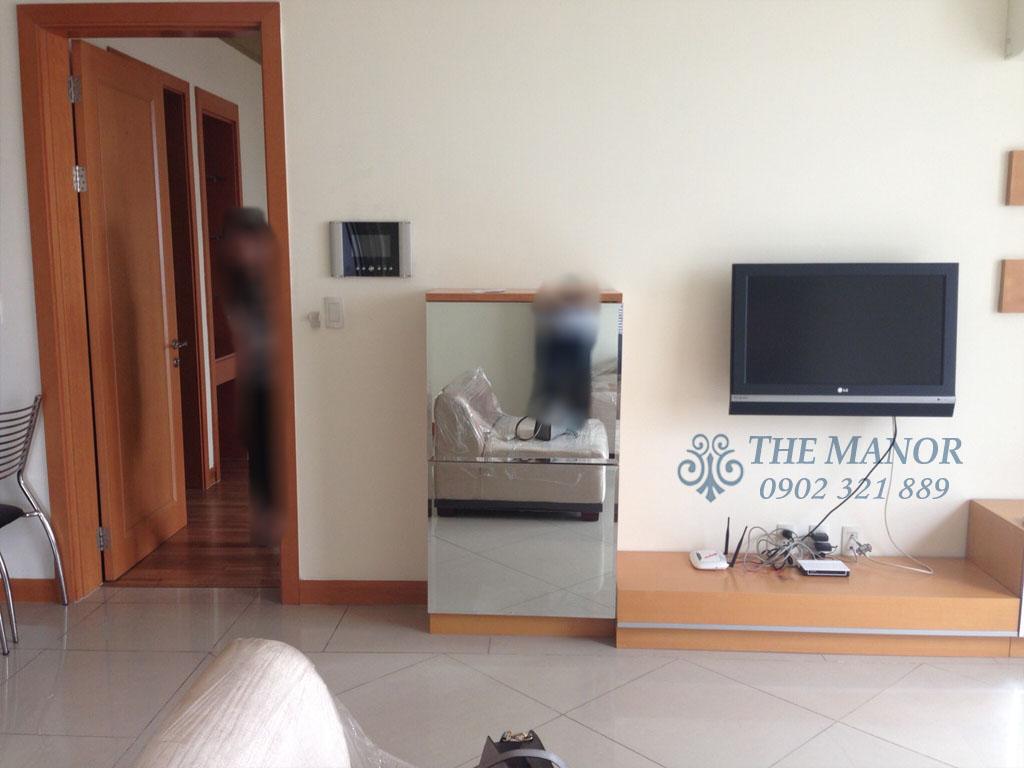 Căn hộ The Manor 100m2 cho thuê block AW tầng 24 full nội thất - hình 4