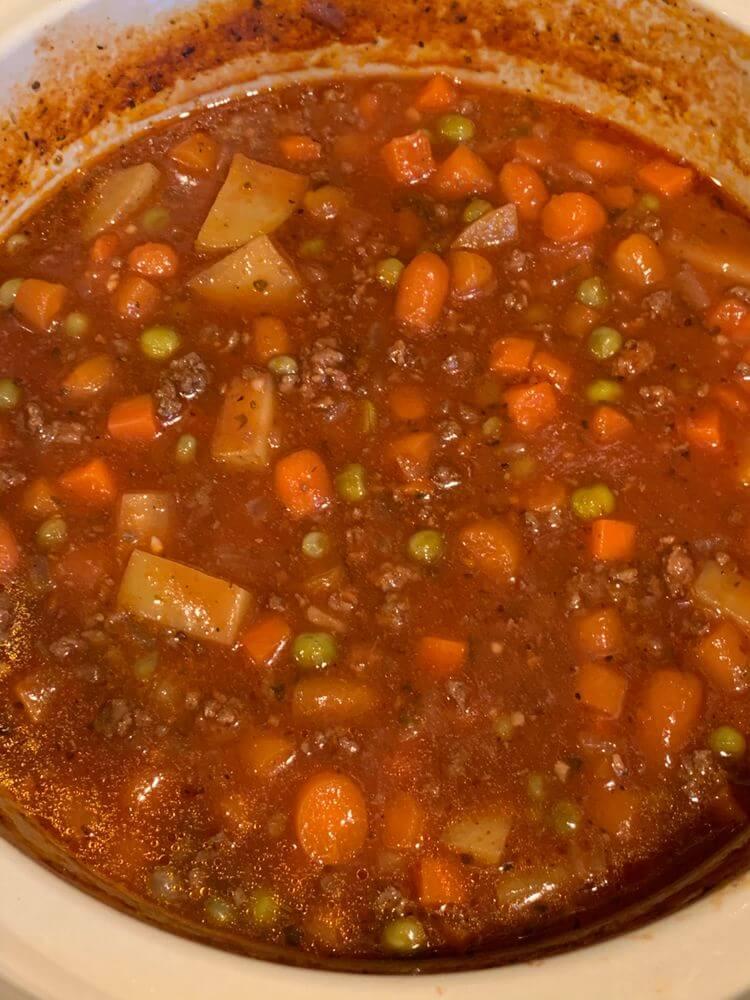 vegetable beef soup recipe