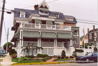 exterior of Victorian Lace Inn in Cape May, New Jersey
