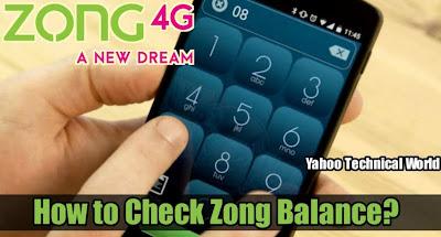 zong check balance code