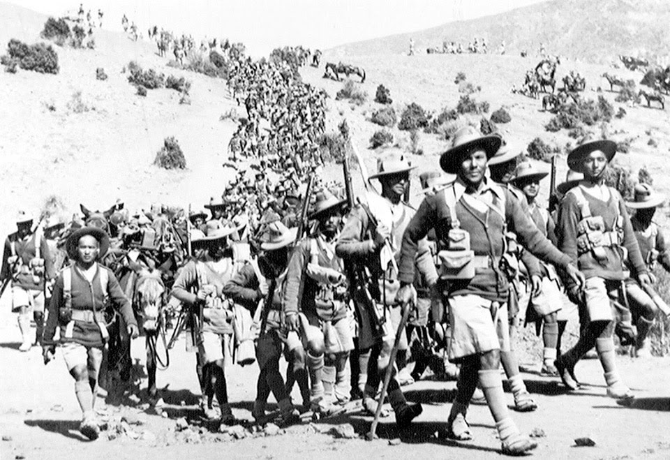 1st Battalion, 3rd Queen Alexandra's Own Gurkha Rifle, Waziristan, 1936 - photo via nam.ac.uk