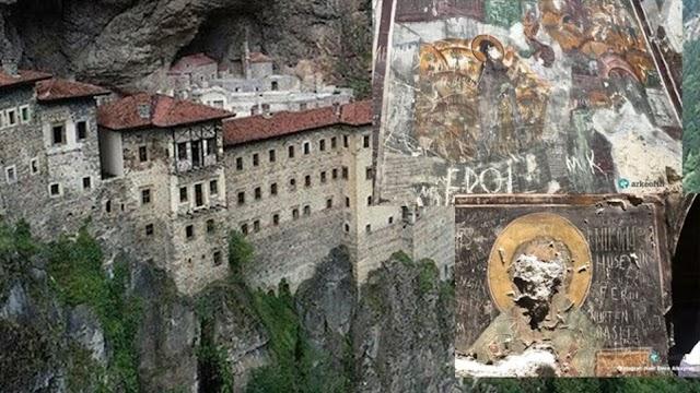Παναγία Σουμελά: Βανδάλισαν βυζαντινές τοιχογραφίες της Μονής στην Τραπεζούντα