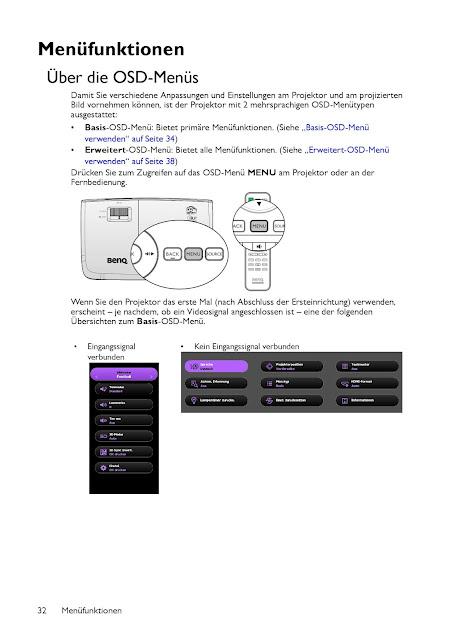 Bedienungsanleitung Beamer BenQ TH683 Full HD 3D DLP-Projektor
