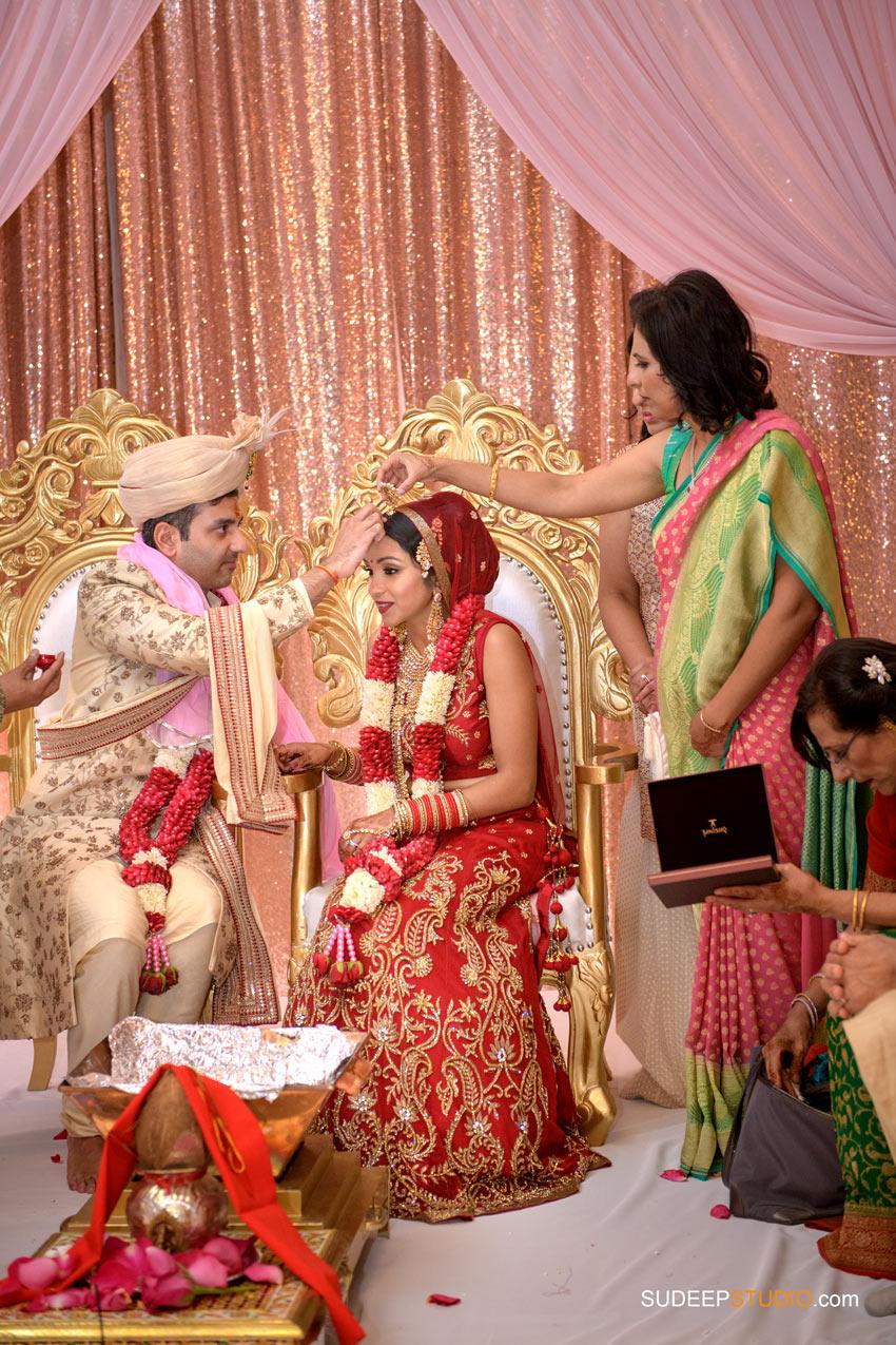 Indian Wedding Ceremony Photography Mandap Decoration at Eagle Crest Marriott SudeepStudio.com Ann Arbor South Asian Indian Wedding Photographer