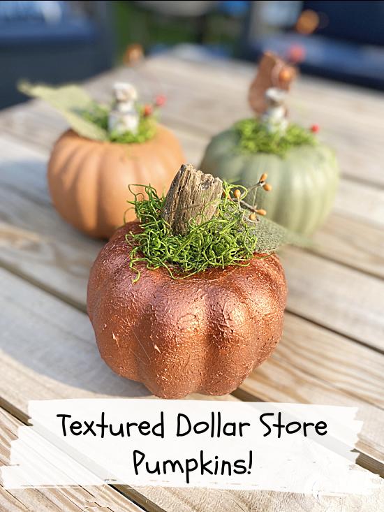Textured pumpkins and an overlay