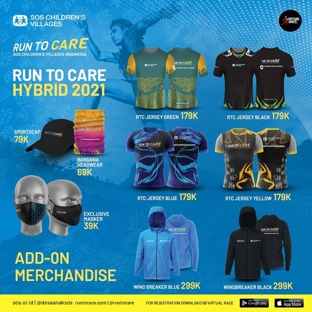 Merchandise 🛍 Virtual Race #RunToCare Hybrid • 2021