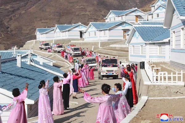New dwelling houses in Komdok area, South Hamgyong Province, November 2020