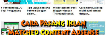 Cara Memasang Iklan Matched Content Adsense Mudah Terbaru