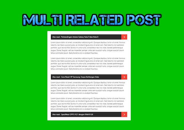 Cara Memasang Multi Related Post di Posti Blogger
