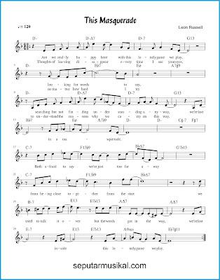 This Masquerade chords jazz standar