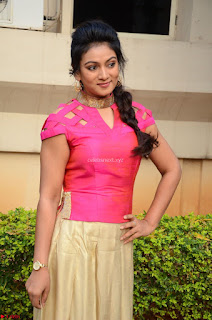 Ashmita in Pink Top At Om Namo Venkatesaya Press MeetAt Om Namo Venkatesaya Press Meet (26).JPG