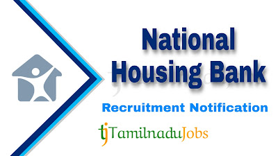 NHB Recruitment notification 2020, govt jobs in India, central govt jobs, banking jobs,