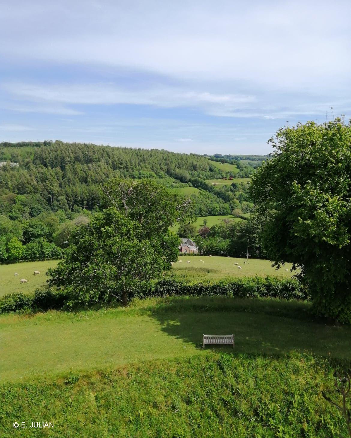 Far-reaching views from Restormel Castle