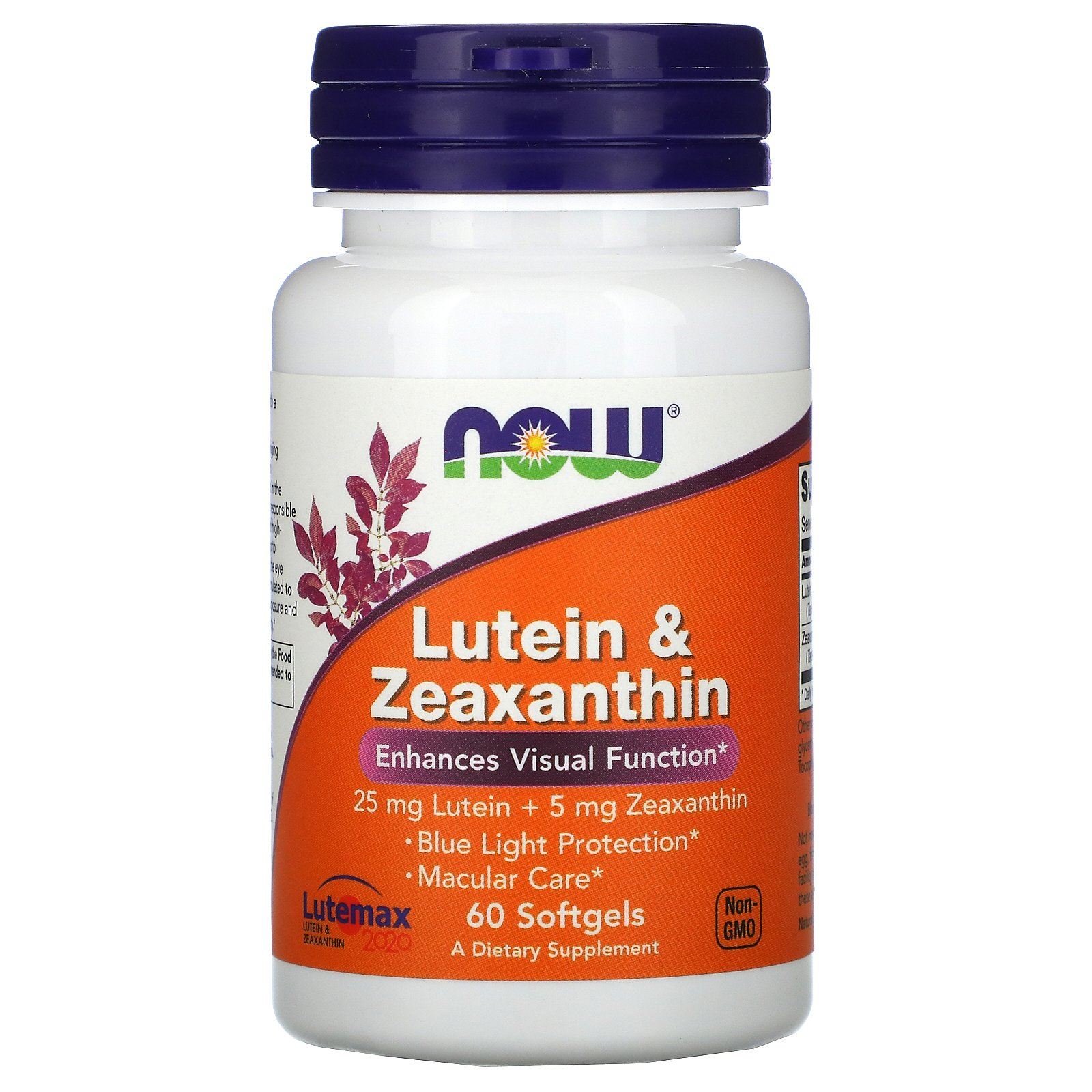 Now Foods, лютеин и зеаксантин, 60 капсул