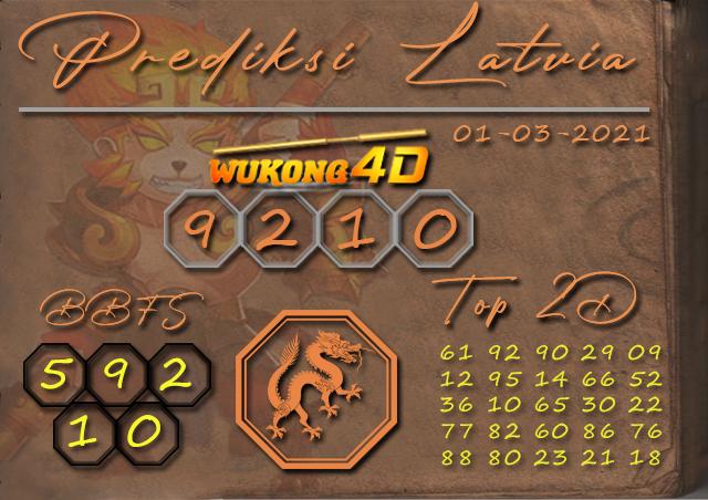 PREDIKSI TOGEL LATVIA WUKONG4D 01 MARET 2021
