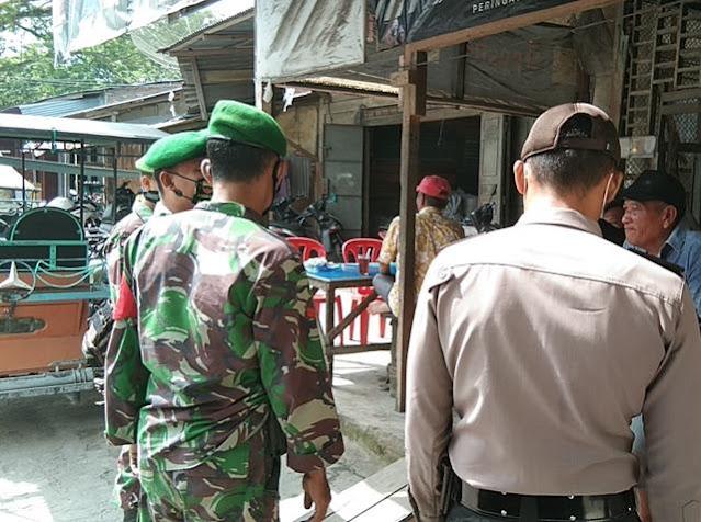 Dalam Rangka Operasi Keselamat Toba 2021, Personel Jajaran Kodim 0207/Simalungun Kompak Dengan Personel Polsek
