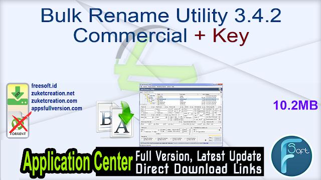 Bulk Rename Utility 3.4.2 Commercial + Key