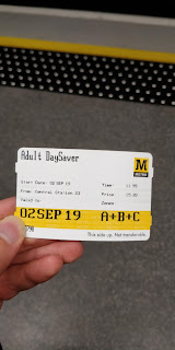 Adult DaySaver ticket for the Tyne and Wear Metro.