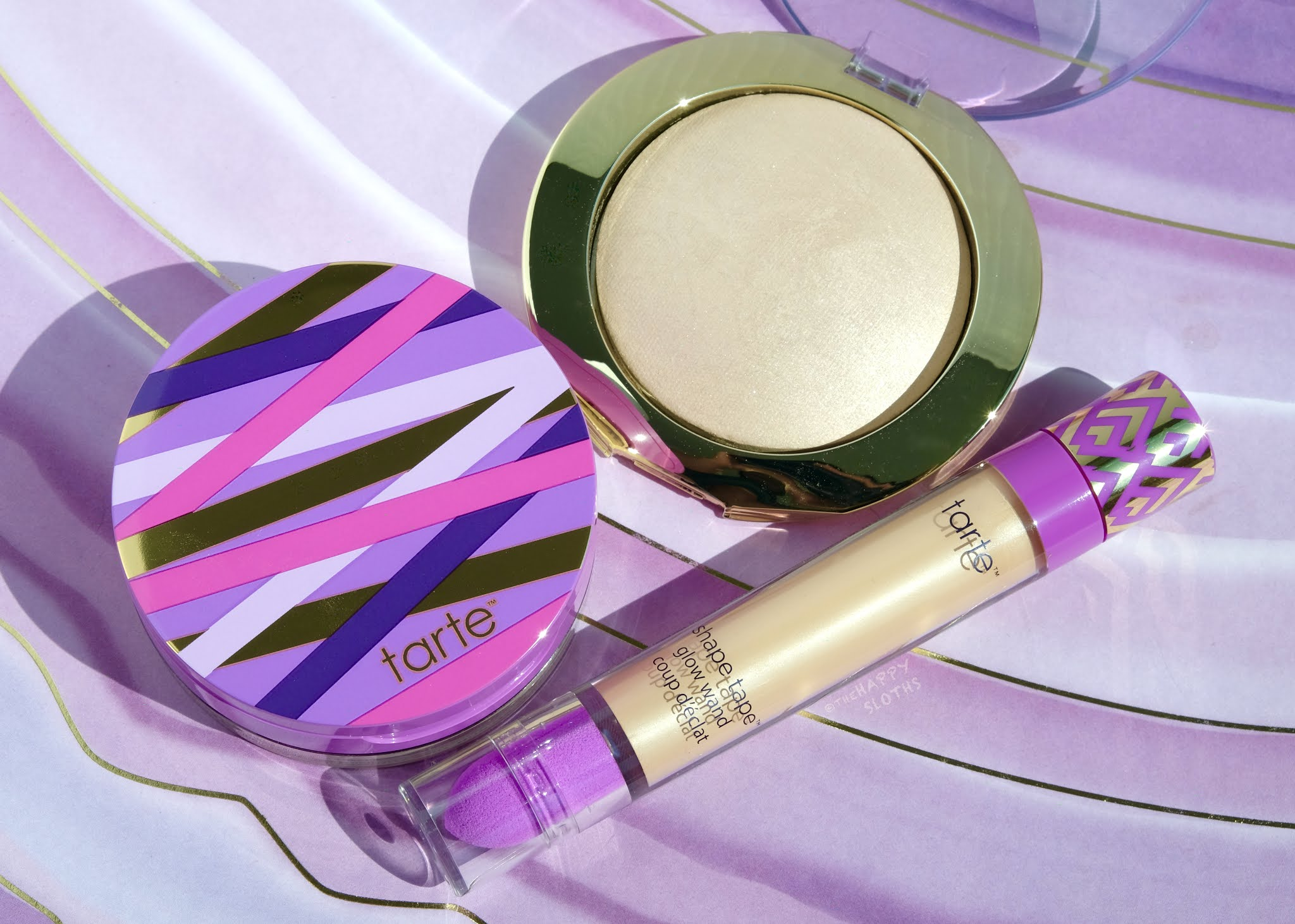 Tarte | Shape Tape Glow Wand, Glow Powder & Setting Powder: Review and Swatches