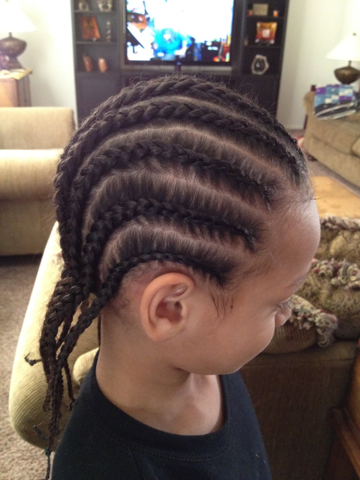 Cornrows Braids Extensions: Boy Cornrows