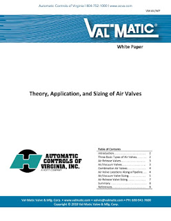 Sizing of Air Valves