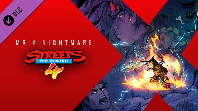 streets of rage 4 mr. x nightmare dlc release estel aguirre max thunder shiva survival mode gameplay classic side-scrolling beat 'em up pc steam ps4 switch xb1 xbox game pass dotemu guard crush games lizardcube sega