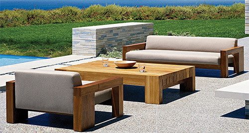 Solid Teak Wood Outdoor Furniture Marmol Radziner Danao