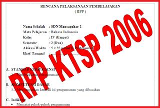 RPP KTSP SD/MI Lengkap Kelas 1-6