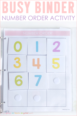 Number Order Busy Binder Activity