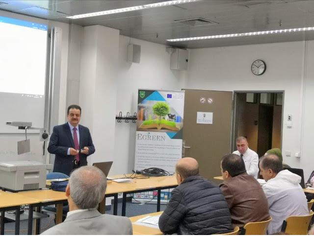 """جامعة ال البيت تشارك باجتماع اللجنة التوجيهية العليا لمشروع """"egreen"""" في المانيا"""