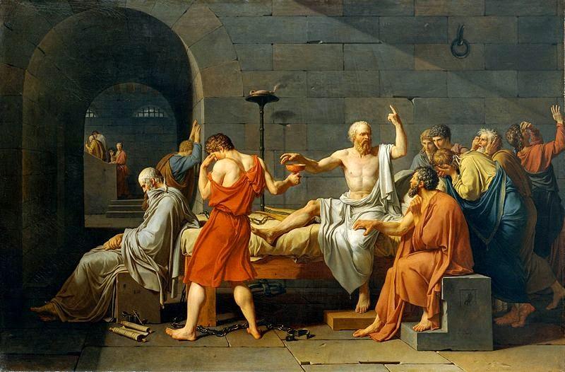A Morte de Sócrates - David, Jacques-Louis e suas principais pinturas ~ Representante do neoclassicismo