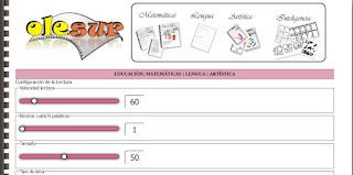 http://www.olesur.com/educacion/velocidad-lectora.asp