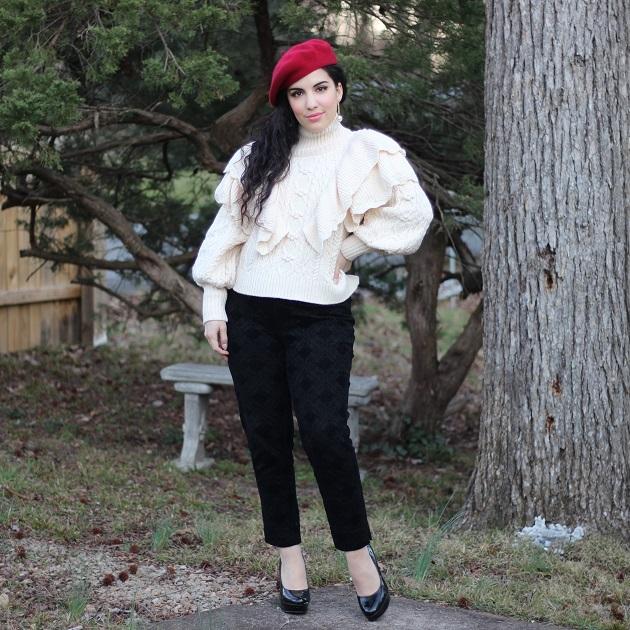 SHEIN Ruffle Sweater