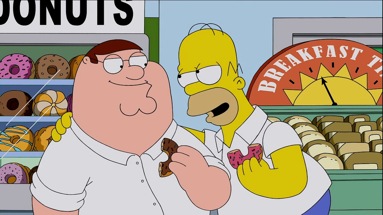 Family Guy 13x01 Peter y Homer