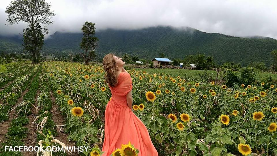 Wut Mhone Shwe Yi In Sunflower Field With Nay Toe And Behind The Scenes Photoshoot