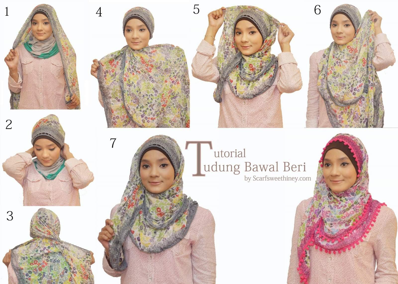 Teknik Hijab Trend Masa Kini