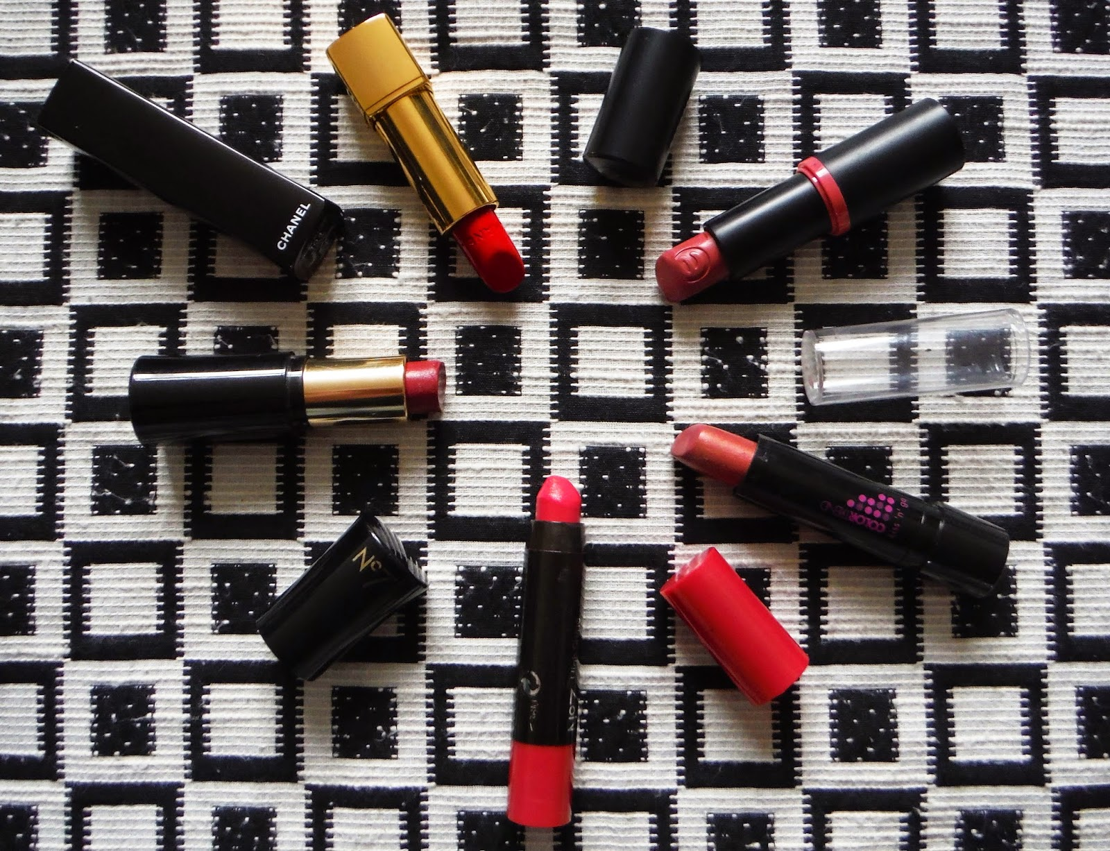 all of my favourite lipsticks