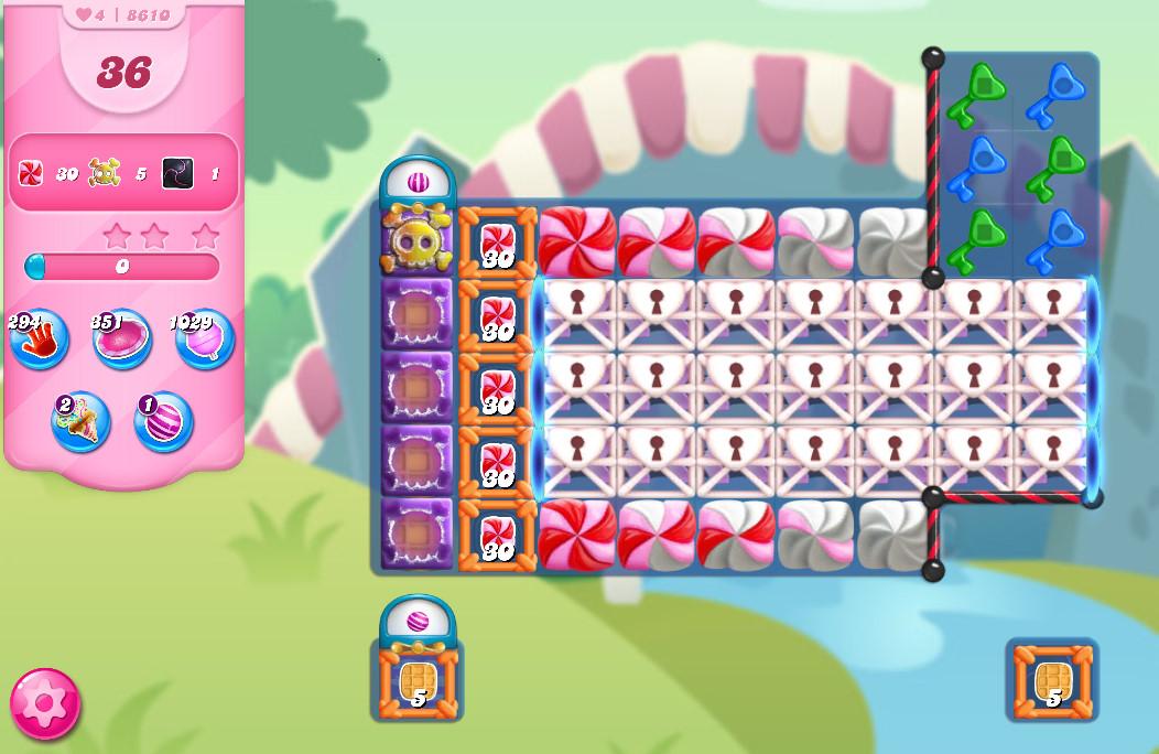 Candy Crush Saga level 8610