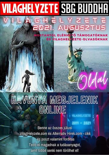 Elérhető a VilagHelyzete online könyvújság 2021. augusztusi száma rekord 385 oldal terjedelemben!