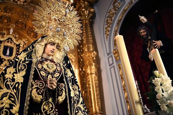 Horario e Itinerario Rosario de la Aurora de la Virgen del Amor Doloroso. Málaga 17 de Octubre del 2021