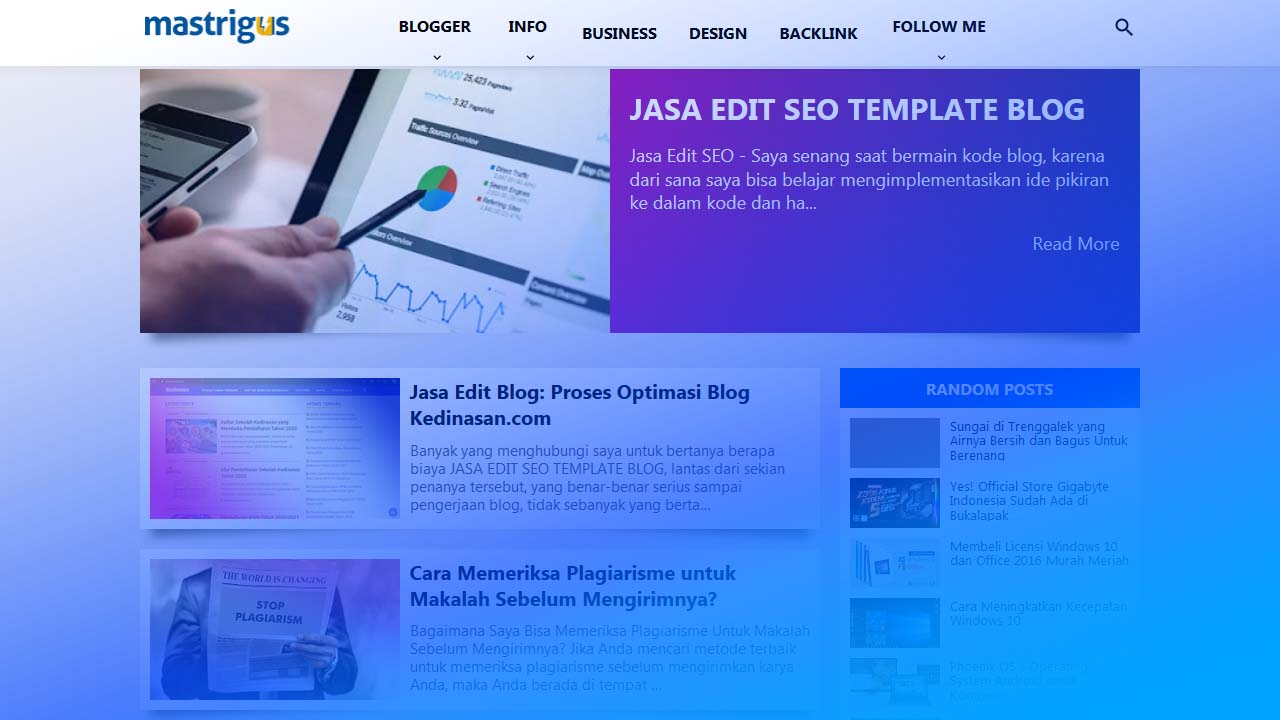 Review Jasa Edit Blog oleh Mas Trigus