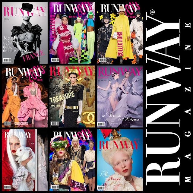 RUNWAY MAGAZINE covers